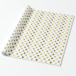 Gold and White Polka Dot Wrapping Paper Gift Wrap Paper