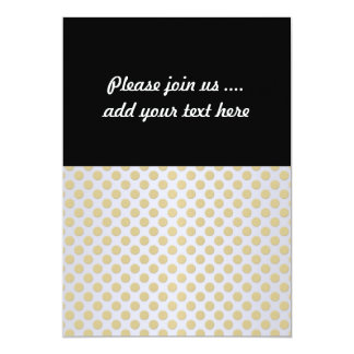 Gold and White Polka Dots Personalized Invitation