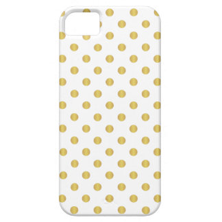 Gold And White Polka Dots iPhone Case iPhone 5 Cover