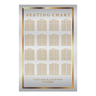 Gold and White Satin - Seating Chart