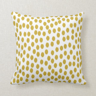 Gold and White Scattered Dots Pillows
