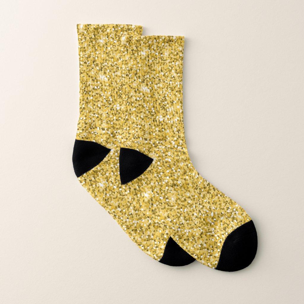 Gold And White Socks