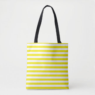 Gold and White Stripes Tote Bag