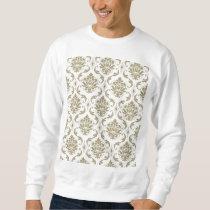 Gold and White Vintage Damask Pattern Sweatshirt