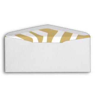 Gold and White Zebra Stripes Pattern Envelopes