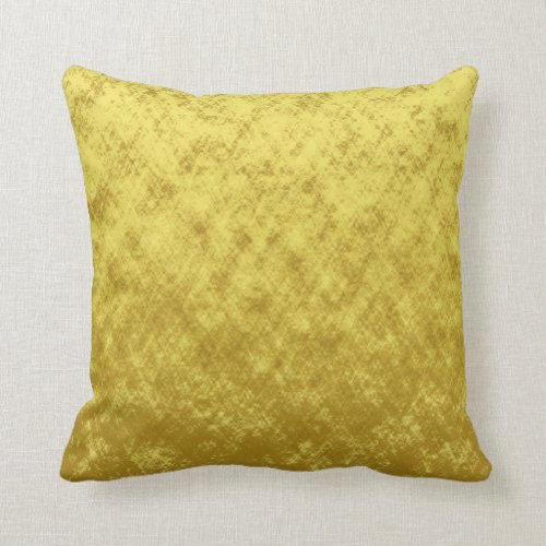 Gold and yellow foil plated abstract design throw pillow