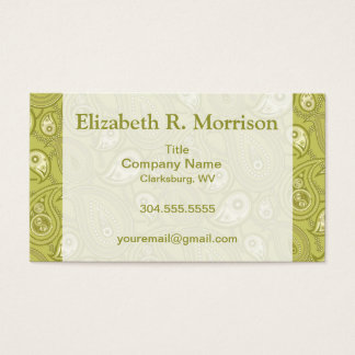 Gold and Yellow Paisley Business Card