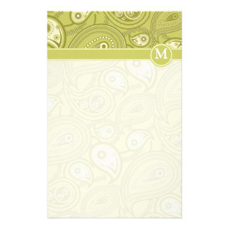 Gold and Yellow Paisley Personalized Stationery