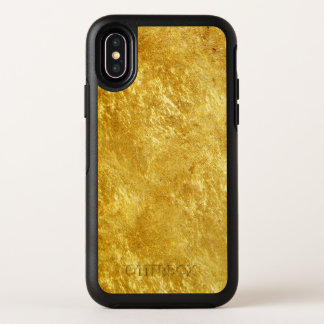 Gold and yellow plated marble pattern OtterBox symmetry iPhone x case