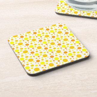 Gold and Yellow Polka Dots Coaster
