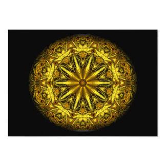 Gold and yellow rose kaleidoscope card
