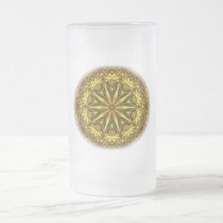 Gold and yellow rose kaleidoscope mug