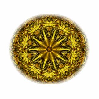 Gold and yellow rose kaleidoscope photo cutout