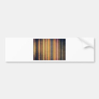 Gold and Yellow Stripes Car Bumper Sticker