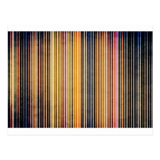 Gold and Yellow Stripes Post Card