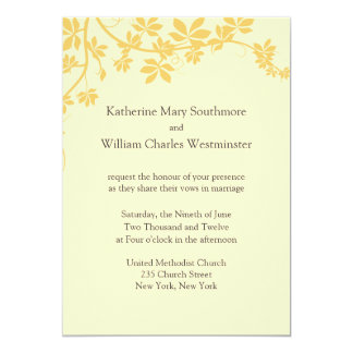 Gold And Yellow Wedding Invitations
