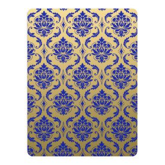 Gold and Zaffre Blue Classic Damask Card
