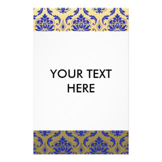 Gold and Zaffre Blue Classic Damask Flyer