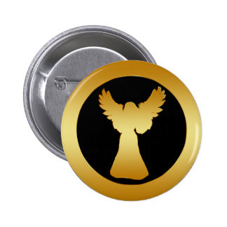GOLD ANGEL 2 INCH ROUND BUTTON