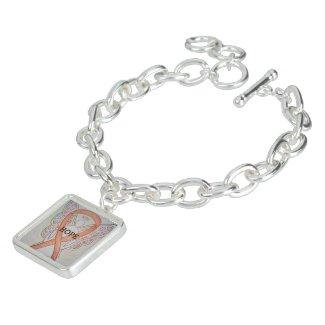 Gold Angel Awareness Ribbon Jewerly Bracelet Charm