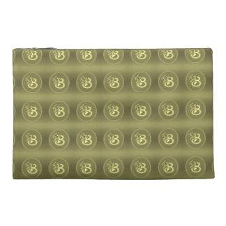 Gold Angel Monogram Medallion Letter B Travel Accessories Bags