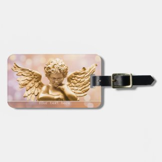 Gold Angel Sparkling Luggage Tag