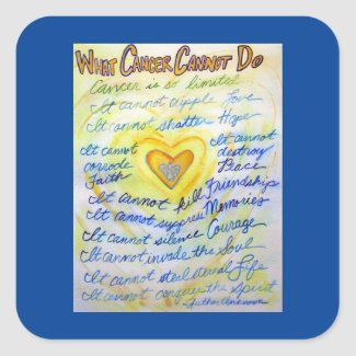 Gold Angel What Cancer Cannot Do Poem Sticker
