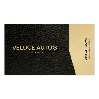 Gold Angle / Leather Business Card