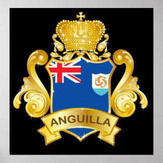 Gold Anguilla Poster