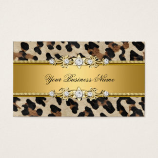 Gold Animal Black Jewel Look Image Business Card