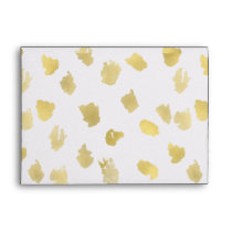 Gold Animal Print Abstract Envelope