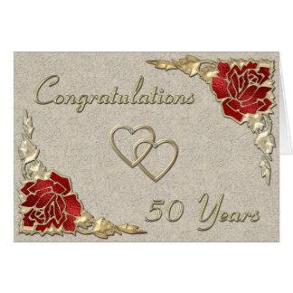 gold anniversary1 greeting card