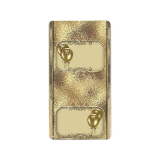 Gold Anniversary Hersheys Miniature Candy bar wrap Label