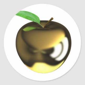 Gold Apple Stickers