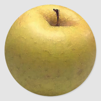 Gold Apple Watercolor - sticker