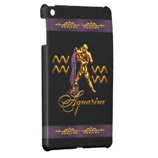 Gold Aquarius Water Carrier Black iPad Mini Case