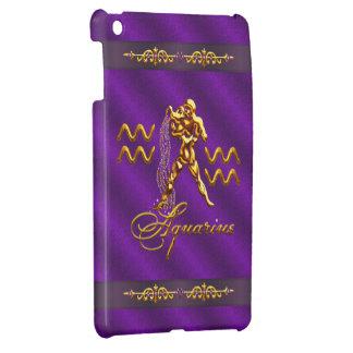 Gold Aquarius Water Carrier Purple iPad Mini Case