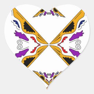 Gold arabic handpainted Ornaments Heart Sticker