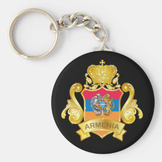 Gold Armenia Keychain
