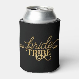 Gold Arrow Bride Tribe Can Cooler