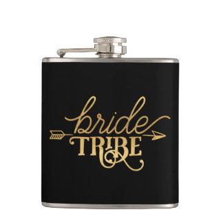 Gold Arrow Bride Tribe Flask