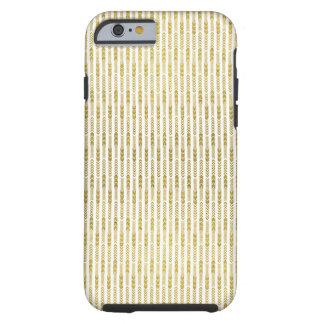 Gold Arrow Herringbone Print Tough iPhone 6 Case