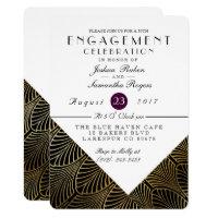 Gold Art Deco 1920's   Engagement Party Invite