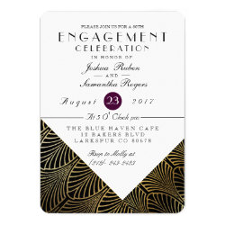 Gold Art Deco 1920's | Engagement Party Invite