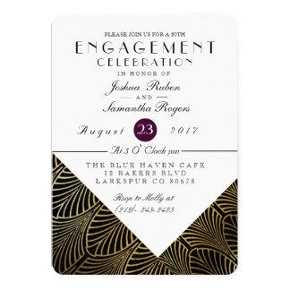 Gold Art Deco 1920's | Engagement Party Invite