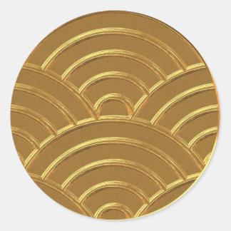 Gold Art Deco Arches Letter Envelope Seal Favor Tg Stickers