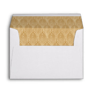 Gold Art Deco Envelope