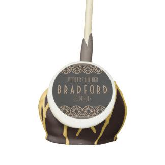 Gold Art Deco Fan Gatsby Wedding Favor Cakepop