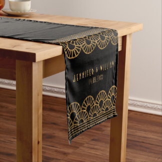 Gold Art Deco Fan Gatsby Wedding Table Runner