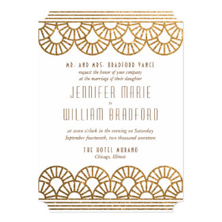 gold and white wedding invitations & announcements | zazzle, Wedding invitations